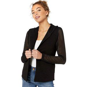 BCBGeneration Women's Hooded Blazer XX Small Black
